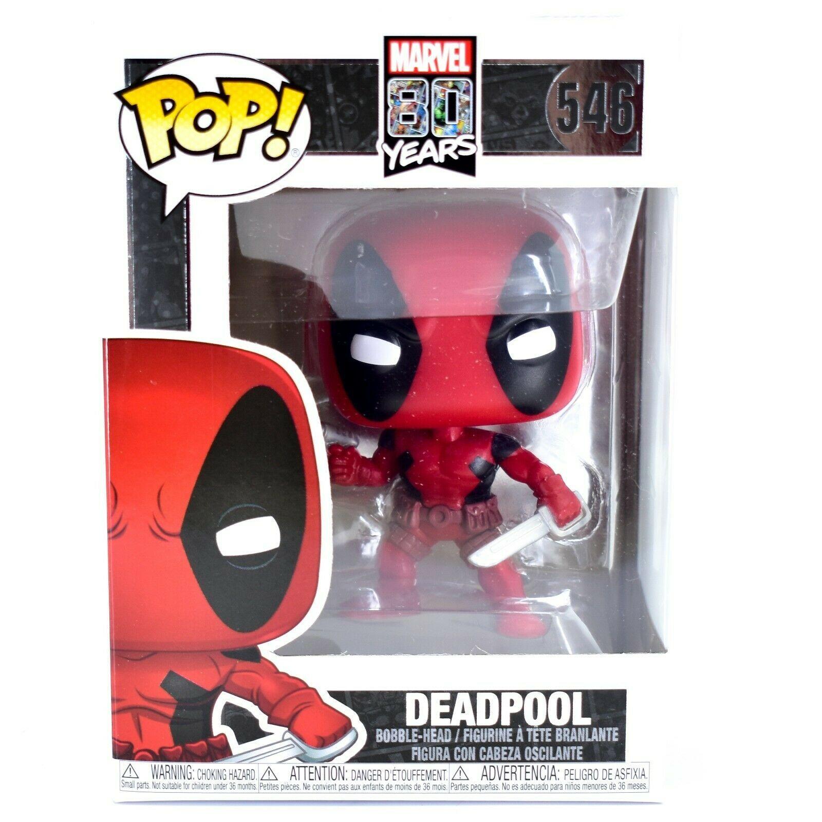 Funko Pop! Marvel 80 Years Deadpool First Appearance #546 Vinyl Bobble-Head