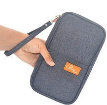 Travel Wallet Passport Holder, RFID Document Organizer by FLYMEI - $10.99