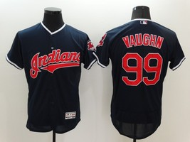 Ricky Vaughn #99 Navy Blue Cleveland Indians Major League Movie Jersey - $35.99+
