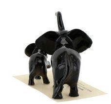 Hagen Renaker Miniature Elephant Mama & Baby Ceramic Figurine image 6