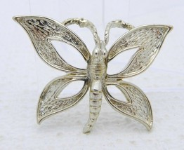 Vtg Florenza Signed Gold Tone Butterfly Pendant - $29.70