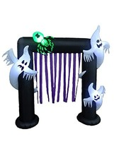 BZB Goods 8 Foot Illuminated Halloween Inflatable Ghosts and Spider Arch... - $152.65