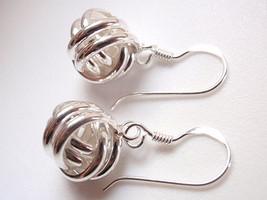 Knot Double Band Earrings 925 Sterling Silver Dangle Corona Sun Jewelry - $12.33