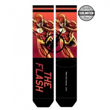 The Flash DC Comics Sublimated over Knit Adult Crew Socks - $6.99