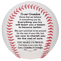 Custom Baseball To Our Grandson Wedding, Graduation, Birthday, Christmas... - $34.95