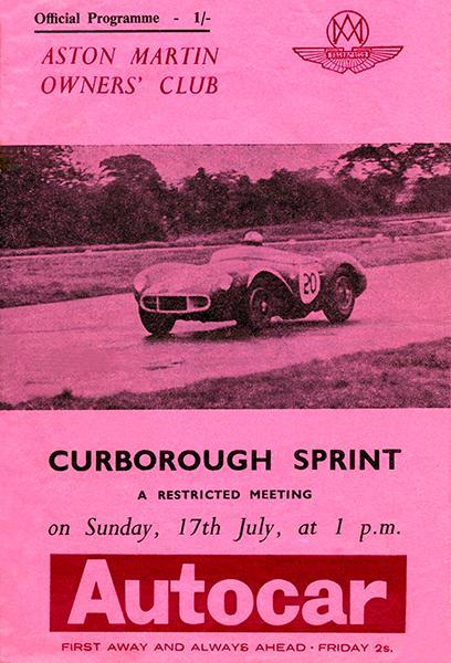 Primary image for 1966 Aston Martin Owners' Club - Curborough Sprint - Program Cover Poster