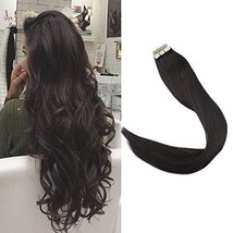 Full Shine Pu Tape In Remy Human Hair Extensions Double Sided 14 Inch Color 1B O