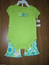 Carter's Baby Girl Long Sleeves 2-Piece Bodysuit/Pants  Set, Sz 6 Months... - $14.84