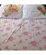 Disney Princess Flat & Fitted Full Sheet Set Pillowcase Cinderella Belle... - $24.74