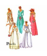 Bridal and Bridesmaids Gowns Priscilla 1980s McCalls 7395 Vintage Sewing... - $16.71