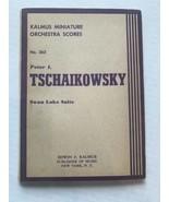 Kalmus Miniature Orchestra Scores-No 252 Tschaikowsky Swan Lake Suite - $7.92