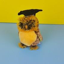 Ty Beanie Baby Smartest Owl Graduation 2003 Brown Bird Bean Bag #A44 - $9.90