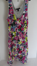 Junior Forever 21 Floral Multi - Colored Empire Dress Size M - $6.79