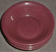Set (5) Metlox Colorstax PLUM/PURPLE Color Cereal Bowls Made In California - $29.69