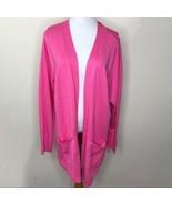 Isaac Mizrahi Pink Open Front Long Cardigan Sz Large - $38.00