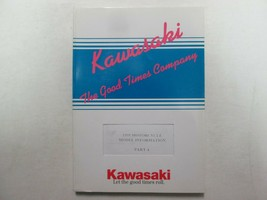 1995 Kawasaki Motorcycle Model Information Part A Manual BOOK FACTORY OE... - $25.06