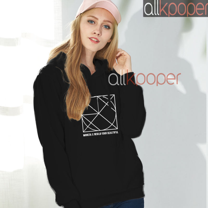 KPOP Monsta x Cap Hoodie BE BEAUTIFUL Concert Hoody 2017 Unisex Casual Sweater