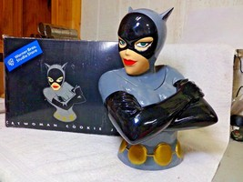 Rare DC Comics CatWoman Cookie Jar Canister Warner Bros Store 1998 NIB - $149.99