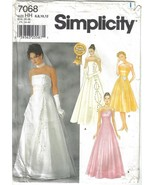 Simplicity Pattern 7068 Wedding Bridesmaid Evening Gown Misses Szs 6 - 1... - $10.99