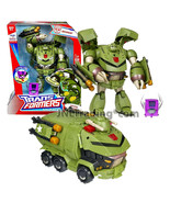 "Year 2008 Hasbro Transformers Animated Leader Class 8"" Electronic Fig BULKHEAD - $104.99"