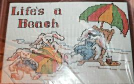 Bucilla 33011 Life's a Beach Donna Gallagher Counted Cross Stitch 5x7 - $13.95