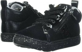 Step & Stride Girls' Zoe Glitter High Top Sneaker, Black Pony - $22.27+