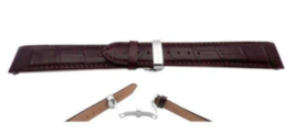 CITIZEN WATCH BAND BROWN LEATHER 20MM PART # 59-S51820 - $54.45