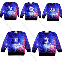KPOP EXO Starry Sweater Chanyeol BAEKHYUN Hoodie Unisex Long Sleeve Pull... - $14.10