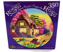 Dream Cottage Retreat ~ Round Jigsaw Puzzle ~ 350 Pcs New - $4.46