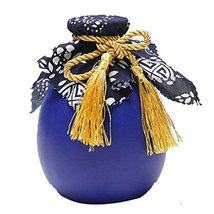 Panda Legends 16-oz Ceramic Empty Wine Bottle Royal Blue Wine Jar Chinese Small  - $21.14