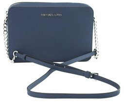 Michael Kors Sapphire Blue Leather Chain Shoulder Cross Body Bag Medium ... - $226.28
