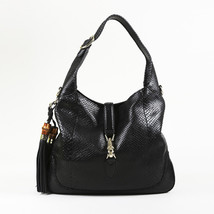 "Gucci Black Snakeskin ""New Jackie Hobo"" Bag - $1,305.00"