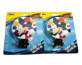 2 Disney Junior Mickey and the Roadster Racers LED Night Light Rotary Shade - $20.69