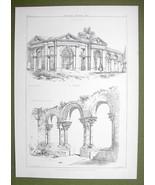 ARCHITECTURE PRINT : ITALY Arcade Vicenza & St. John Evangelist at Syracuse - $12.15