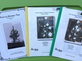 Hardanger Embroidery Christmas Ornaments Pattern Book Lot  - $31.68