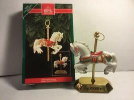 Hallmark Keepsake Ornament Tobin Fraley Carousel New Porcelain&Brass 1st Edition - $10.99