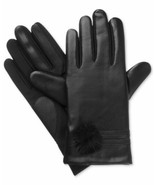 Isotoner Signature Women's SleekHeat smarTouch Pom-Pom Gloves (Black, L/XL) - $54.35