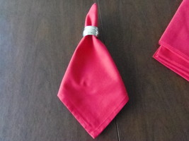 5 RED NAPKINS 100% COTTON 22X22  INCHES - $12.99