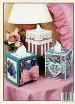 Sweet Boutiques in Plastic Canvas Birdhouse Crazy Quilt Roses and Lace NOS - $5.95