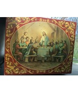 Last Supper by Vincent Barzoni Jewelry Box~ signed print,wood Jesus & D... - $31.68