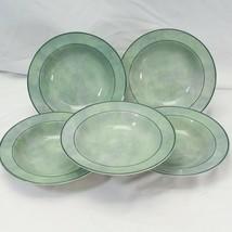 """Studio Nova Neopolitan Jade Rim Soup Bowls 8.125"""" Lot of 5 - $48.99"""