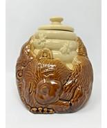 Vintage McCOY COOKIE JAR Sleeping BEAR and Honey Hive w/ BEES Ceramic #1... - $33.17