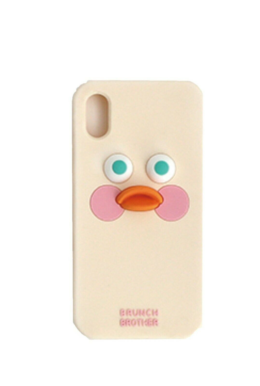 Brunch Brother iPhone X Silicon Case Cover Protector Version 2 (White Duck)