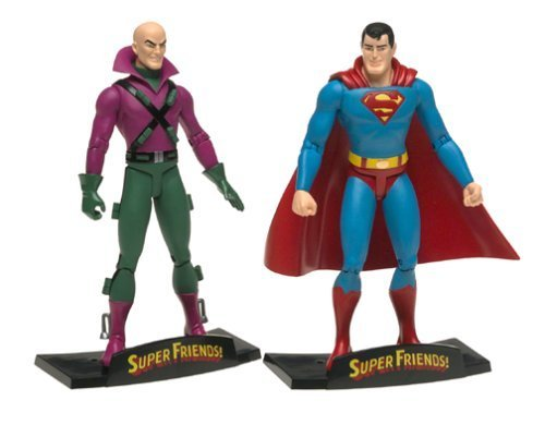 DC Direct Super Friends Deluxe Action Figure Set Superman Lex Luthor