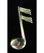 Vintage Goldtone Musical Note Pin - Brooch~The Perfect Gift For Any Musi... - $15.99