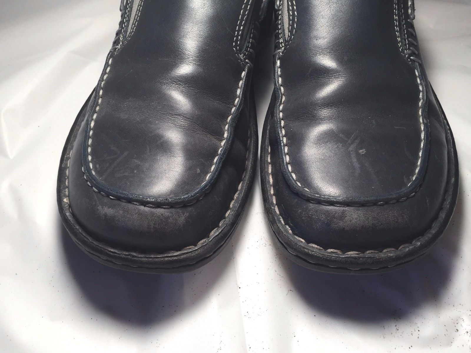 MERRELL Women's Tetra Mocs Navy PERFORMANCE Footwear Size 7 US | 37.6 EUR
