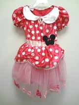 HALLOWEEN DISNEY 2PC PINK MICKEY MINNIE MOUSE CLUBHOUSE COSTUME DRESS Si... - $15.76