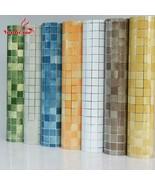 Wall Sticker 10M PVC Mosaic Bathroom Waterproof Self Adhesive Wallpaper ... - $38.98