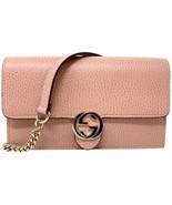 NEW Gucci Interlocking G Pink Crossbody Shoulder Bag Clutch Wallet On Chain - $737.43