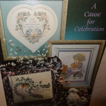 Cause for Celebration Cross Stitch Leaflet 73 Stoney Creek Santa 1990 Bu... - $10.99